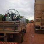 BR que liuga Goiás a Bahia em um dia de chuva